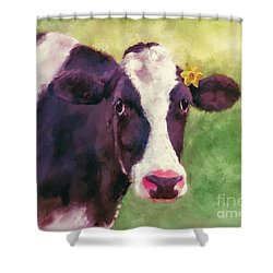 Shower Curtain featuring the photograph The Milk Maid by Lois Bryan