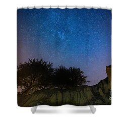 The Milky Way Above Shell Beach Shower Curtain