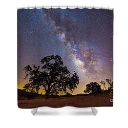 The Milky Way And Perseids Shower Curtain