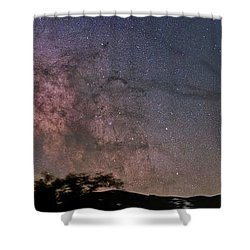 The Milky Way Core Shower Curtain