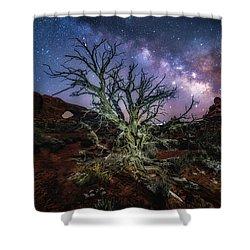 The Milky Way Tree Shower Curtain