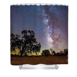 The Milky Way With One Perseid Meteor Shower Curtain