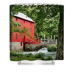 The Mill At Alley Spring Shower Curtain