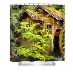 The Mill Shower Curtain by Eva Lechner
