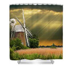 The Mill On The Marsh Shower Curtain by Meirion Matthias