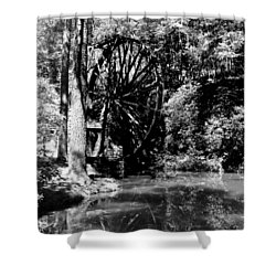 The Mill Wheel Shower Curtain