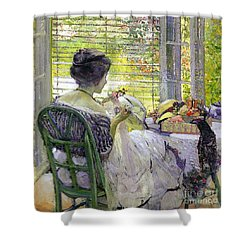 The Milliner Shower Curtain by Richard Edward Miller