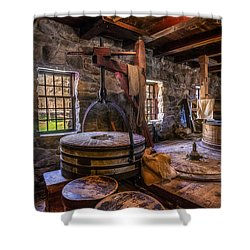 The Milling Room Shower Curtain by Mark Papke