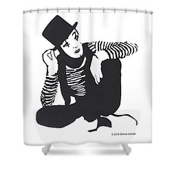 The Mime Shower Curtain
