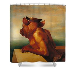 The Minotaur  Shower Curtain by Mountain Dreams