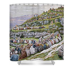 The Miracle Of The Loaves And Fishes Shower Curtain by Tissot