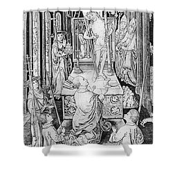 The Miracle Of Transubstantiation Shower Curtain