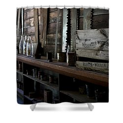 The Mishawaka Woolen Bar Shower Curtain