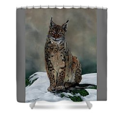 The Missing Lynx Shower Curtain