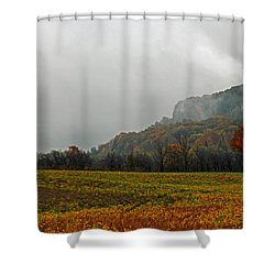 Shower Curtain featuring the photograph The Mist by John Stuart Webbstock
