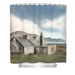 The Mist Of Moorland Shower Curtain by Colleen Taylor