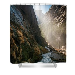 The Mist Trail Shower Curtain