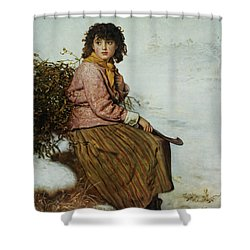The Mistletoe Gatherer Shower Curtain by Sir John Everett Millais