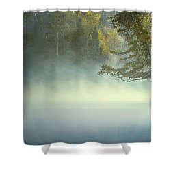 The Mists Of Hunt Lake Shower Curtain
