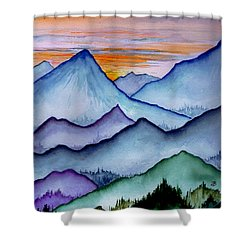 The Misty Mountains Shower Curtain