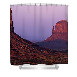 Shower Curtain featuring the photograph The Mittens by Chad Dutson