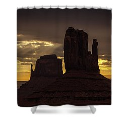 The Mittens Sunrise Shower Curtain