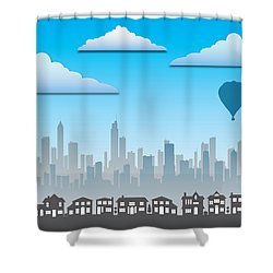 The Modern City Shower Curtain