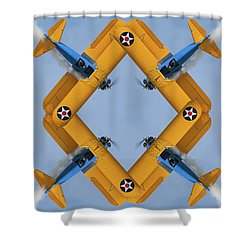 The Mohrbeous Strip Shower Curtain