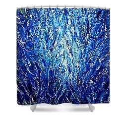 Shower Curtain featuring the painting The Moment 5 by Shabnam Nassir