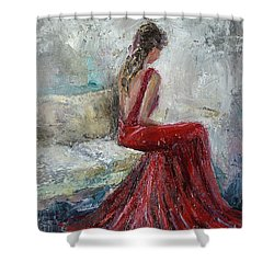 The Moment Shower Curtain by Jennifer Beaudet