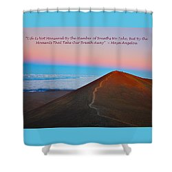 The Moments That Take Our Breath Away Shower Curtain by Venetia Featherstone-Witty