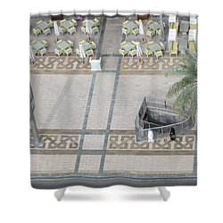 Shower Curtain featuring the photograph The Money Is Here But Where Are All The People Besides These Two by Marie Neder