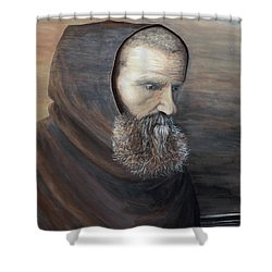 The Monk Shower Curtain by Judy Kirouac