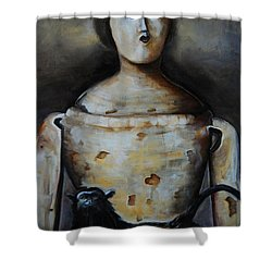The Monkey And The Mannequin Shower Curtain