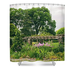 The Monocot Garden Shower Curtain by Jessica Jenney