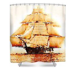 Shower Curtain featuring the painting The Monongahela by Angela Treat Lyon