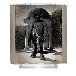 The Monster Maze Shower Curtain by Joaquin Abella