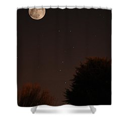 The Moon And Ursa Major Shower Curtain