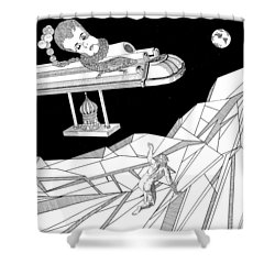 The Moon Shower Curtain by Stan  Magnan