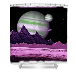 The Moons Of Meepzor Shower Curtain by Scott Ross