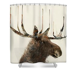 The Moose Shower Curtain