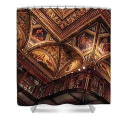 Shower Curtain featuring the photograph The Morgan Library Ceiling by Jessica Jenney