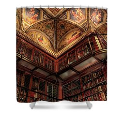 Shower Curtain featuring the photograph The Morgan Library Corner by Jessica Jenney