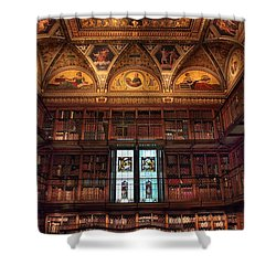 Shower Curtain featuring the photograph The Morgan Library Window by Jessica Jenney