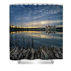 The Moritzburg Castle Is A Baroque Palace In Moritzburg In The German State Of Saxony. Saxony, Germany. Shower Curtain