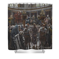 The Morning Judgement Shower Curtain by Tissot