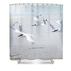 The Morning Rush Shower Curtain