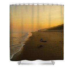 The Morning Walk Shower Curtain by Roy McPeak