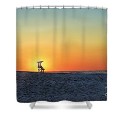 The Morning Watchtower Shower Curtain