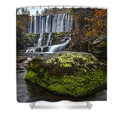 The Mossy Rock Shower Curtain